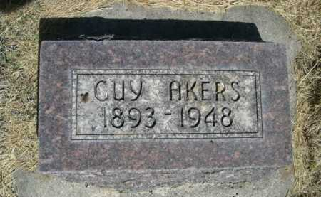AKERS, GUY - Dawes County, Nebraska | GUY AKERS - Nebraska Gravestone Photos