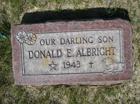 ALBRIGHT, DONALD E. - Dawes County, Nebraska   DONALD E. ALBRIGHT - Nebraska Gravestone Photos