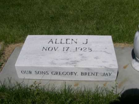 ALDERMAN, ALLEN J. - Dawes County, Nebraska | ALLEN J. ALDERMAN - Nebraska Gravestone Photos