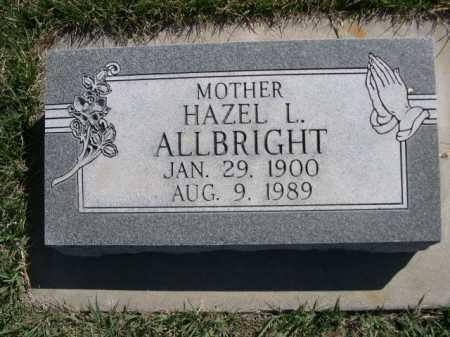 ALLBRIGHT, HAZEL L. - Dawes County, Nebraska   HAZEL L. ALLBRIGHT - Nebraska Gravestone Photos
