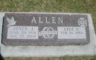 ALLEN, JOYCE J. - Dawes County, Nebraska | JOYCE J. ALLEN - Nebraska Gravestone Photos