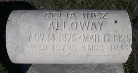 ALLOWAY, CELIA INEZ - Dawes County, Nebraska   CELIA INEZ ALLOWAY - Nebraska Gravestone Photos