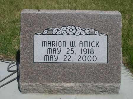 AMICK, MARION W. - Dawes County, Nebraska   MARION W. AMICK - Nebraska Gravestone Photos
