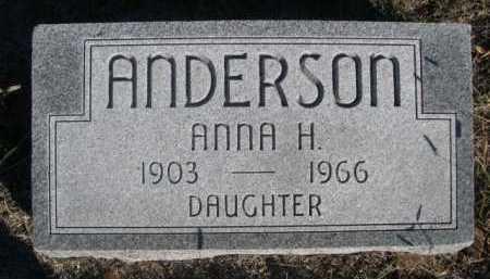 ANDERSON, ANNA H. - Dawes County, Nebraska   ANNA H. ANDERSON - Nebraska Gravestone Photos