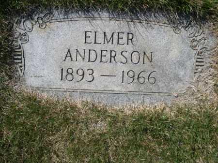 ANDERSON, ELMER - Dawes County, Nebraska | ELMER ANDERSON - Nebraska Gravestone Photos
