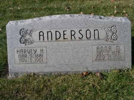 ANDERSON, HARVEY H. - Dawes County, Nebraska | HARVEY H. ANDERSON - Nebraska Gravestone Photos