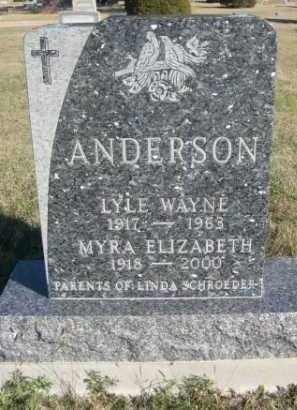 ANDERSON, MYRA ELIZABETH - Dawes County, Nebraska | MYRA ELIZABETH ANDERSON - Nebraska Gravestone Photos