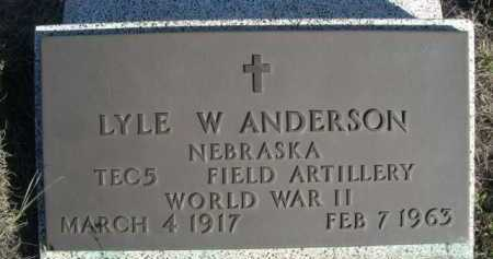 ANDERSON, LYLE W. - Dawes County, Nebraska | LYLE W. ANDERSON - Nebraska Gravestone Photos