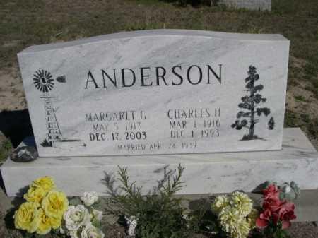 ANDERSON, MARGARET G, - Dawes County, Nebraska | MARGARET G, ANDERSON - Nebraska Gravestone Photos