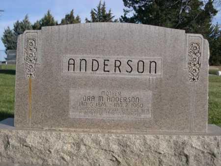 ANDERSON, ORA M. - Dawes County, Nebraska | ORA M. ANDERSON - Nebraska Gravestone Photos