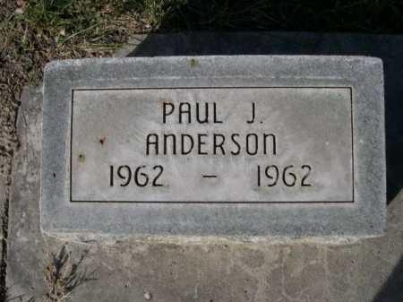 ANDERSON, PAUL J. - Dawes County, Nebraska   PAUL J. ANDERSON - Nebraska Gravestone Photos