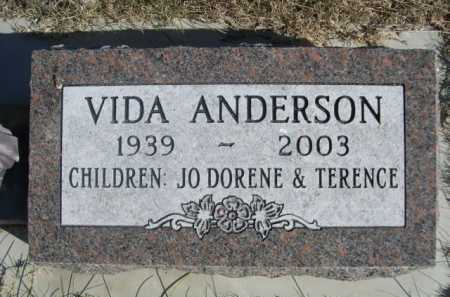 ANDERSON, VIDA - Dawes County, Nebraska | VIDA ANDERSON - Nebraska Gravestone Photos