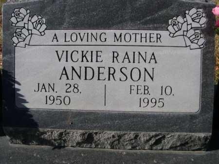 ANDERSON, VICKIE RAINA - Dawes County, Nebraska | VICKIE RAINA ANDERSON - Nebraska Gravestone Photos