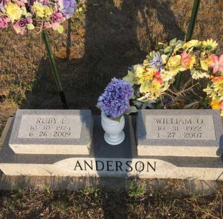 ANDERSON, WILLIAM O. - Dawes County, Nebraska | WILLIAM O. ANDERSON - Nebraska Gravestone Photos