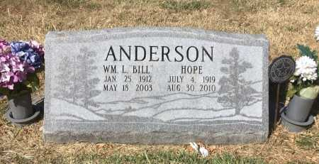 "ANDERSON, WM. L. ""BILL - Dawes County, Nebraska   WM. L. ""BILL ANDERSON - Nebraska Gravestone Photos"
