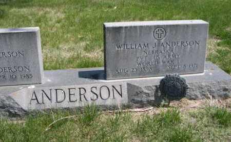 ANDERSON, WILLAIM J. - Dawes County, Nebraska   WILLAIM J. ANDERSON - Nebraska Gravestone Photos