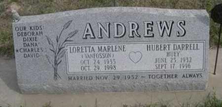 VAN FOSSON ANDREWS, LORETTA MARLENE - Dawes County, Nebraska | LORETTA MARLENE VAN FOSSON ANDREWS - Nebraska Gravestone Photos