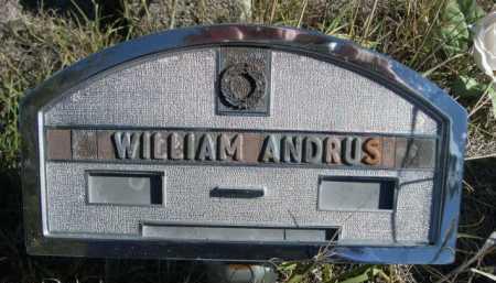 ANDRUS, WILLIAM - Dawes County, Nebraska | WILLIAM ANDRUS - Nebraska Gravestone Photos