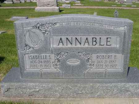 ANNABLE, ROBERT E. - Dawes County, Nebraska | ROBERT E. ANNABLE - Nebraska Gravestone Photos