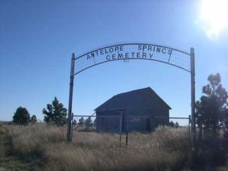ANTELOPE SPRINGS CEMETERY, ENTRANCE TO - Dawes County, Nebraska | ENTRANCE TO ANTELOPE SPRINGS CEMETERY - Nebraska Gravestone Photos