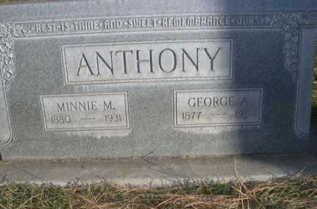 ANTHONY, MINNIE M. - Dawes County, Nebraska | MINNIE M. ANTHONY - Nebraska Gravestone Photos