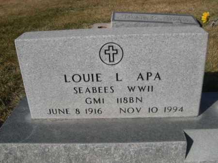 APA, LOUIE - Dawes County, Nebraska   LOUIE APA - Nebraska Gravestone Photos