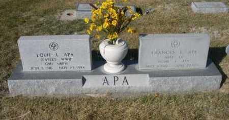 APA, LOUIE L. - Dawes County, Nebraska | LOUIE L. APA - Nebraska Gravestone Photos