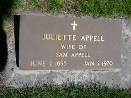 APPELL, JULIETTE - Dawes County, Nebraska   JULIETTE APPELL - Nebraska Gravestone Photos