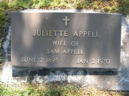 APPELL, JULIETTE - Dawes County, Nebraska | JULIETTE APPELL - Nebraska Gravestone Photos