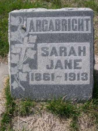 ARGABRIGHT, SARAH JANE - Dawes County, Nebraska   SARAH JANE ARGABRIGHT - Nebraska Gravestone Photos