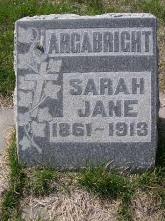 ARGABRIGHT, SARAH JANE - Dawes County, Nebraska | SARAH JANE ARGABRIGHT - Nebraska Gravestone Photos