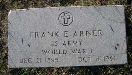 ARNER, FRANK E. - Dawes County, Nebraska | FRANK E. ARNER - Nebraska Gravestone Photos