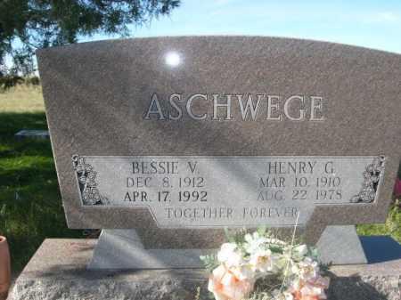 ASCHWEGE, BESSIE V. - Dawes County, Nebraska | BESSIE V. ASCHWEGE - Nebraska Gravestone Photos