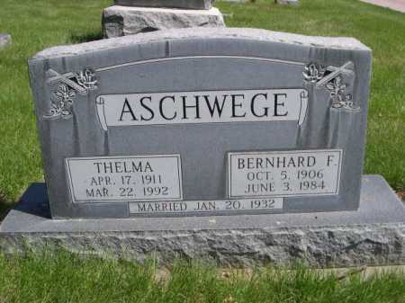 ASCHWEGE, BERNHARD F. - Dawes County, Nebraska | BERNHARD F. ASCHWEGE - Nebraska Gravestone Photos