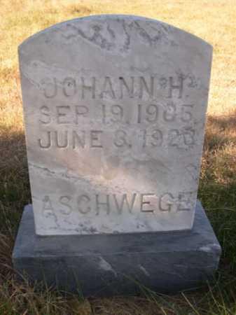 ASCHWEGE, JOHANN H. - Dawes County, Nebraska | JOHANN H. ASCHWEGE - Nebraska Gravestone Photos