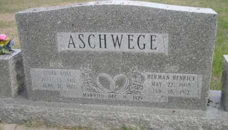 ASCHWEGE, LYDIA ROSE - Dawes County, Nebraska | LYDIA ROSE ASCHWEGE - Nebraska Gravestone Photos