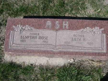 ASH, LILLY H. - Dawes County, Nebraska   LILLY H. ASH - Nebraska Gravestone Photos
