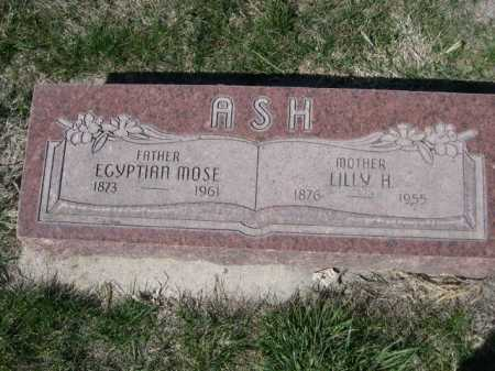 ASH, EGYPTIAN MOSE - Dawes County, Nebraska | EGYPTIAN MOSE ASH - Nebraska Gravestone Photos