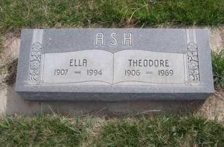 ASH, THEODORE - Dawes County, Nebraska | THEODORE ASH - Nebraska Gravestone Photos