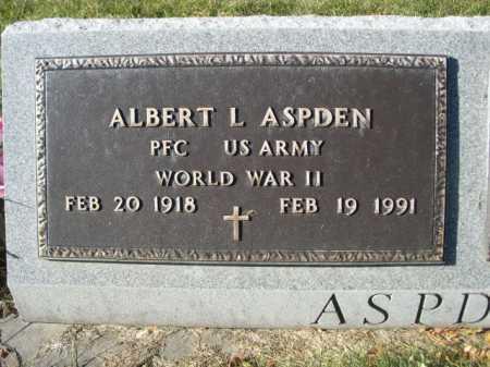 ASPDEN, ALBERT L. - Dawes County, Nebraska | ALBERT L. ASPDEN - Nebraska Gravestone Photos