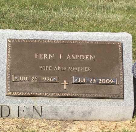 ASPDEN, FERN I. - Dawes County, Nebraska | FERN I. ASPDEN - Nebraska Gravestone Photos