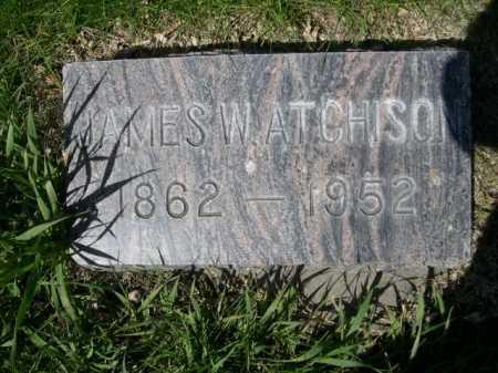ATCHISON, JAMES W. - Dawes County, Nebraska | JAMES W. ATCHISON - Nebraska Gravestone Photos