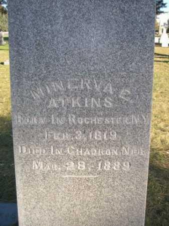 ATKINS, MINERVA E. - Dawes County, Nebraska   MINERVA E. ATKINS - Nebraska Gravestone Photos