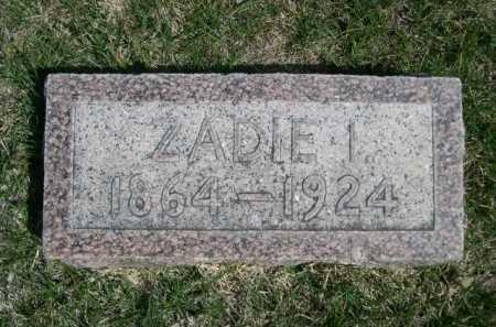 ATWATER, ZADIE I. - Dawes County, Nebraska | ZADIE I. ATWATER - Nebraska Gravestone Photos