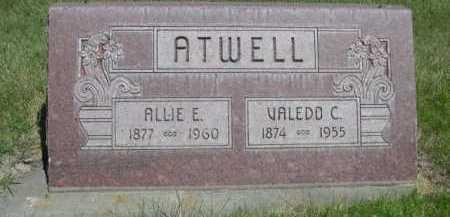 ATWELL, ALLIE E. - Dawes County, Nebraska | ALLIE E. ATWELL - Nebraska Gravestone Photos