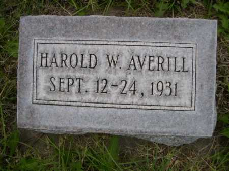 AVERILL, HAROLD W. - Dawes County, Nebraska | HAROLD W. AVERILL - Nebraska Gravestone Photos
