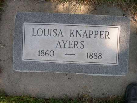 AYERS, LOUISA KNAPPER - Dawes County, Nebraska | LOUISA KNAPPER AYERS - Nebraska Gravestone Photos