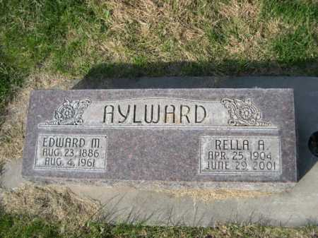 AYLWARD, RELLA A. - Dawes County, Nebraska | RELLA A. AYLWARD - Nebraska Gravestone Photos