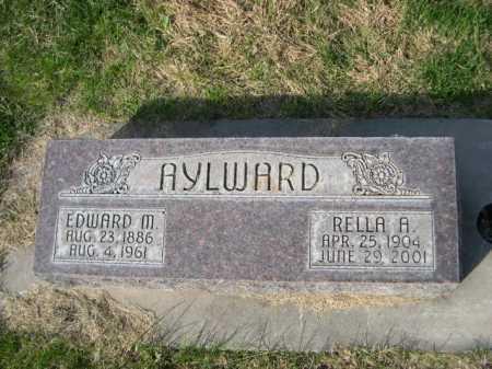 AYLWARD, EDWARD M. - Dawes County, Nebraska | EDWARD M. AYLWARD - Nebraska Gravestone Photos