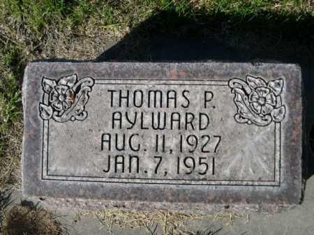 AYLWARD, THOMAS P. - Dawes County, Nebraska   THOMAS P. AYLWARD - Nebraska Gravestone Photos